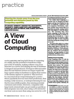A View of Cloud Computing
