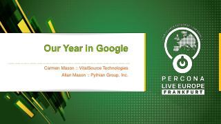 A Year in Google Cloud