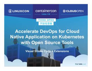 Accelerate DevOps for Cloud Native Applicatio...