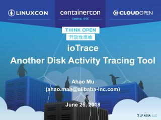 Advanced Disk Activity Tracking Tool-iotrace