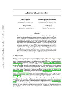 Adversarial Autoencoders
