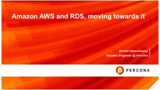 Amazon AWS and RDS, moving towards it