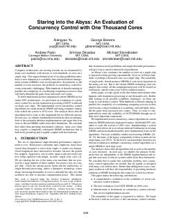 An Evaluation of Concurrency Control with One...