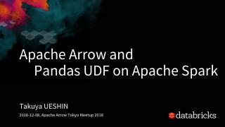 Apache Arrow and PySpark Pandas UDF