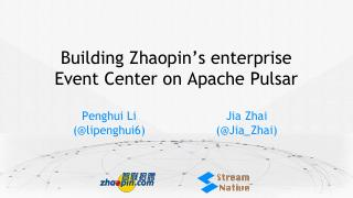 Building Zhaopin's enterprise event center on...