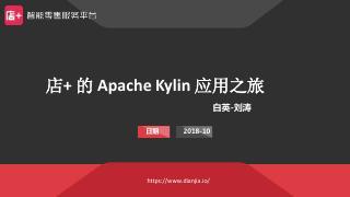 店家的Apache Kylin 应用之旅
