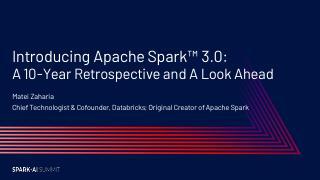 Apache Spark 3.0简介:回顾...