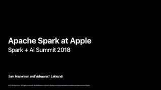 苹果公司的Apache Spark