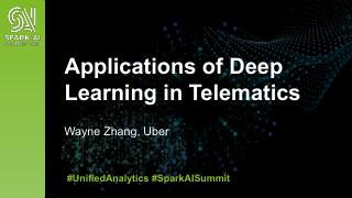 Applications of Deep Learning in Telematics