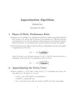 近似算法--品质因数.性能比