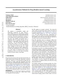 Asynchronous Methods for Deep Reinforcement L...