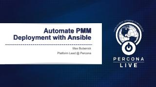 Automate PMM Deployment with Ansible