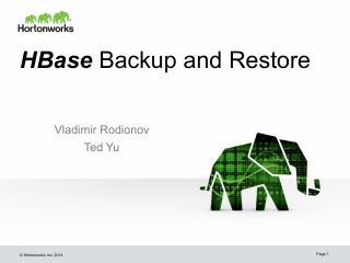 HBase 数据备份与恢复
