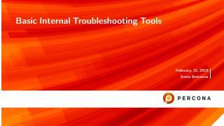 Basic Internal Troubleshooting Tools