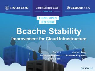 Bcache Stability- Improvement for Cloud Infra...
