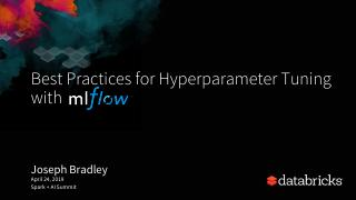 Best Practices for Hyperparameter Tuning with...