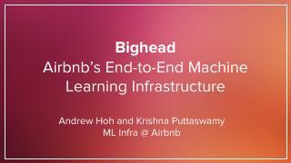 Beeead:Airbnb的端到端机器学习平台