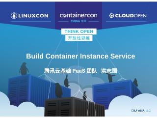 BoF: Build Container Instance Service With Ka...