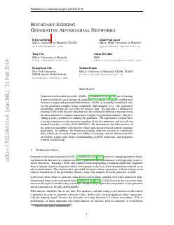 Boundary-Seeking Generative Adversarial Networks