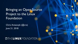 Bringing an Open Source Project to the Linux ...