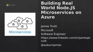 Building Real World Node.JS Microservices on ...