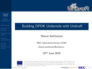 Building DPDK Unikernels with Unikraft