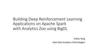 利用BigDL在Analytics Zoo...