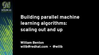 构建大型可伸缩的机器学习算法框架
