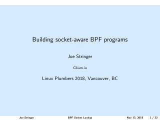 Building socket-aware BPF programs