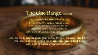 C++ Ranges