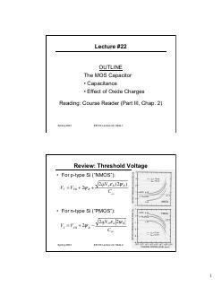 电容,氧化物电荷对金属氧化物电容器的影响