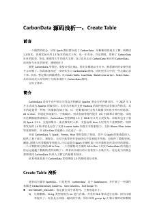 CarbonData系列一:Create ...