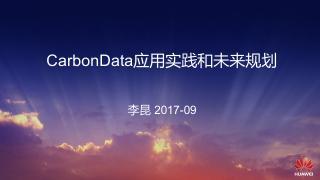 CarbonData应用实践和未来规划
