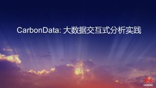 CarbonData 大数据交互式分析实践...