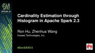 Apache  Spark2.3中直方图的...