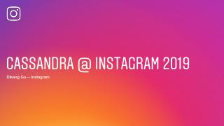 20_03 Cassandra at Instagram 2019
