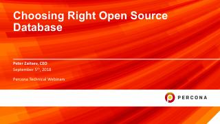 Choosing Right Open Source Database