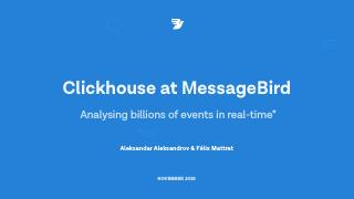 ClickHouse at Messagebird - analysing billion...