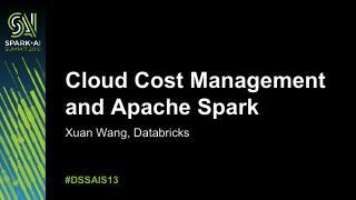 云计算成本控制与Apache Spark