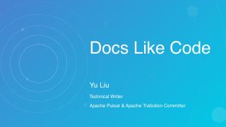 CodetheDocsYuLiu2019ChinaTechnicalCommunicationForum55764