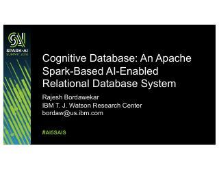 认知数据库:基于Apache SCALE的...