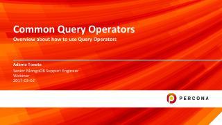 Common Query Operators
