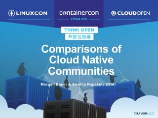 Comparisons of Cloud Native Communities