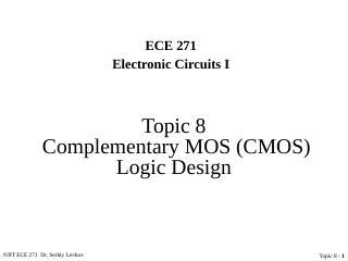 互补型MOS (CMOS)逻辑设计
