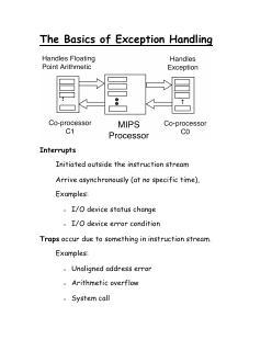 09 计算机组成--异常处理