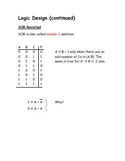 11 计算机组成--逻辑电路设计