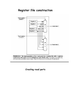 14 计算机组成--寄存器文件结构
