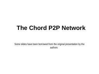 06 The Chord P2P Network
