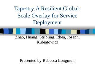09 Tapestry——用于服务部署的弹...