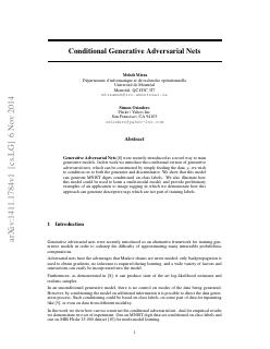 Conditional Generative Adversarial Nets